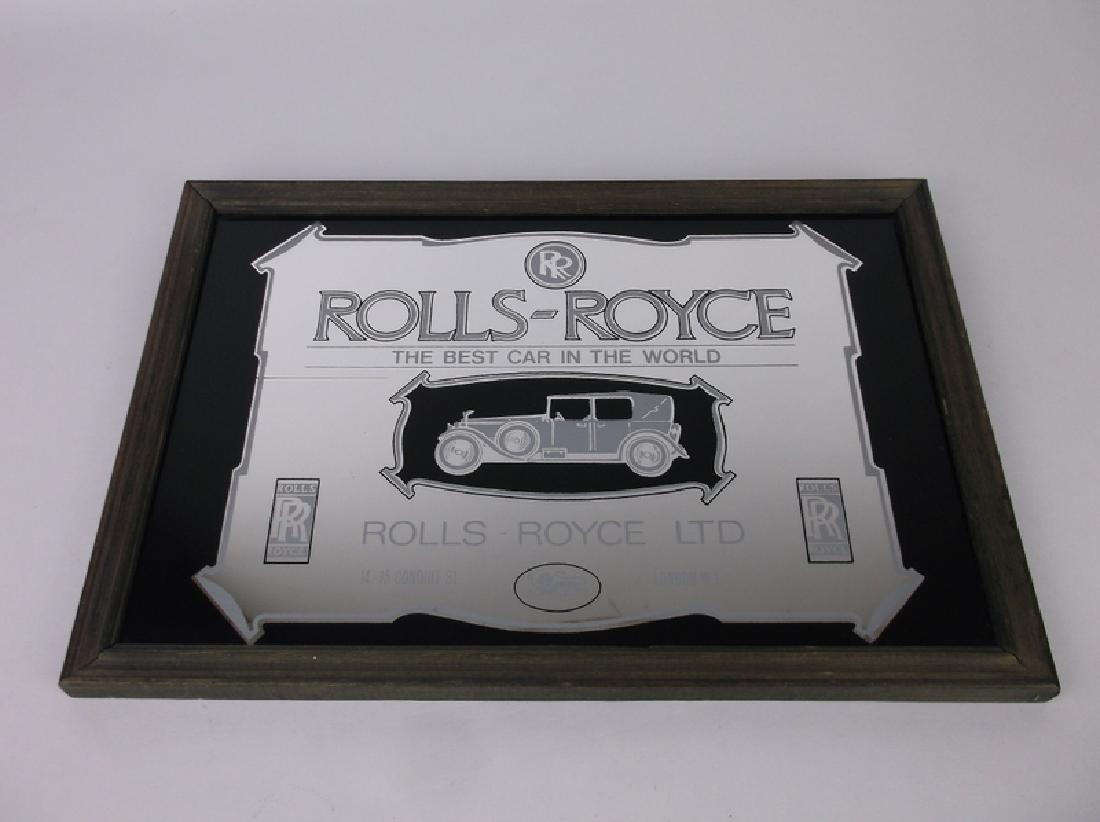 Rolls Royce Mirrored Plaque 13 x 9 Inch