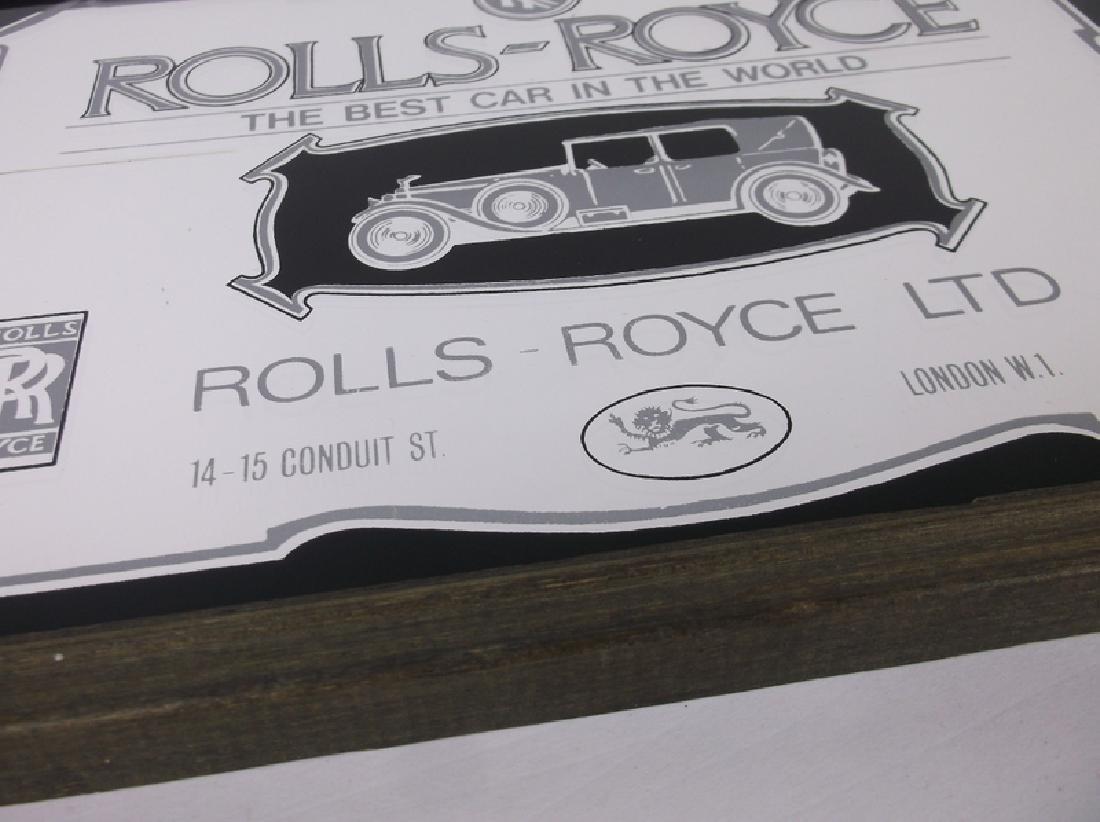 Rolls Royce Mirrored Plaque 13 x 9 Inch - 2