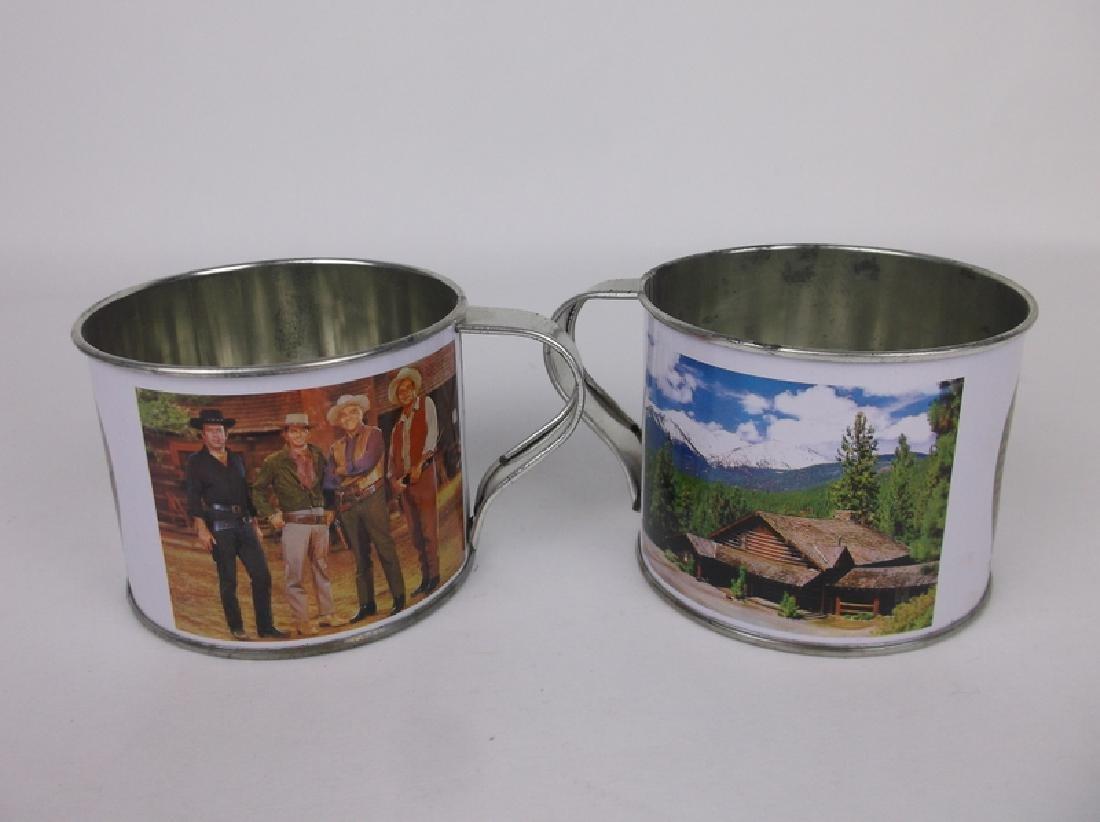2 Ponderosa Ranch Tin Cups