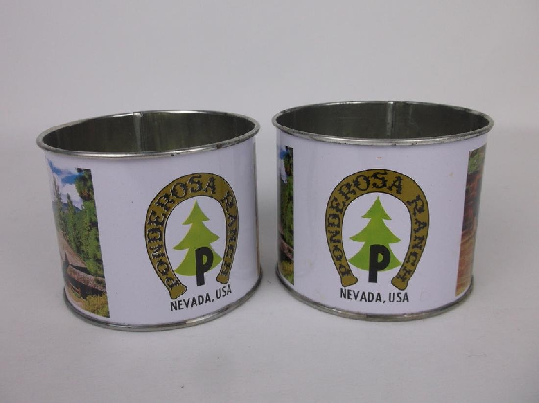 2 Ponderosa Ranch Tin Cups - 2