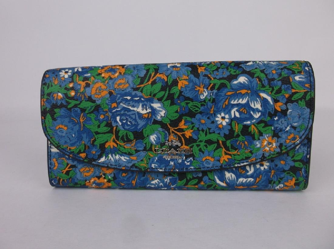 New Coach Floral Wallet