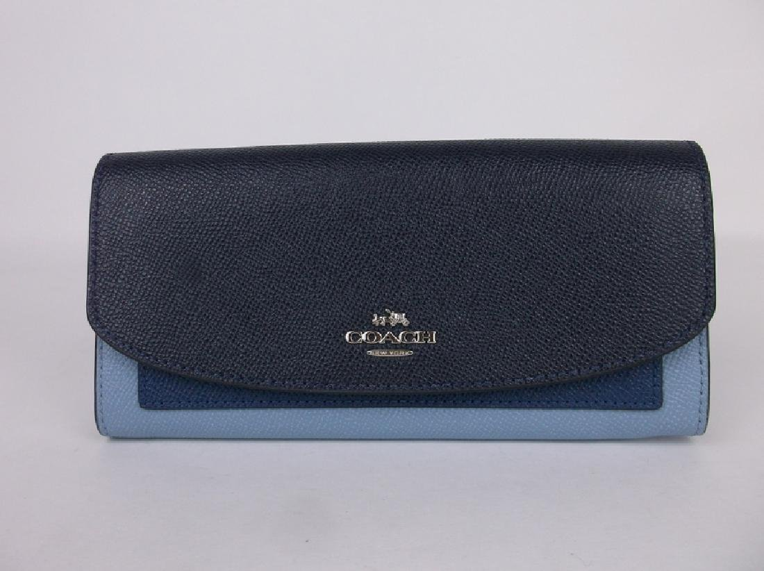 New Coach Blue Wallet