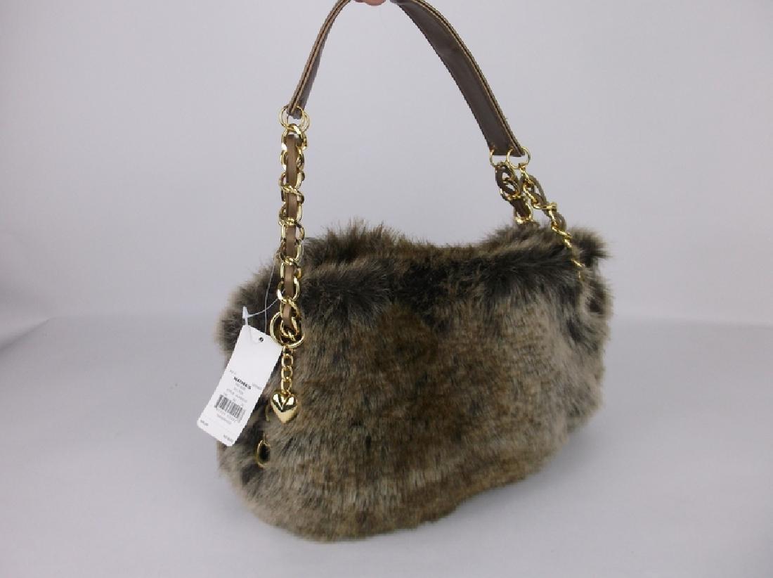 New Faux Fur Handbag Purse With Tags