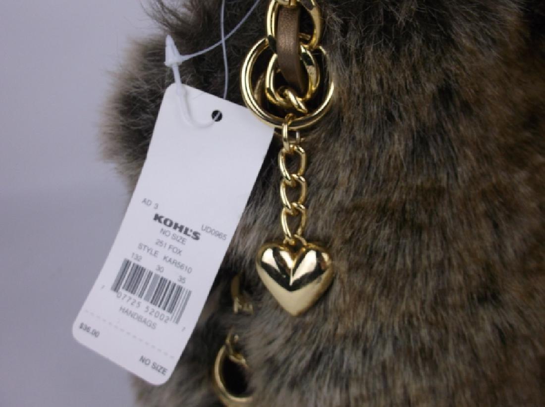 New Faux Fur Handbag Purse With Tags - 2