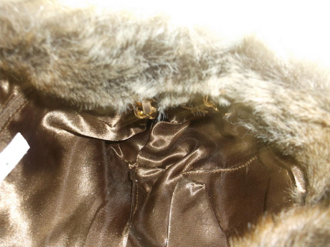 New Faux Fur Handbag Purse With Tags - 3