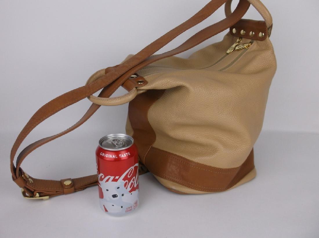 New Large Valentina Leather Handbag Purse Italian - 2