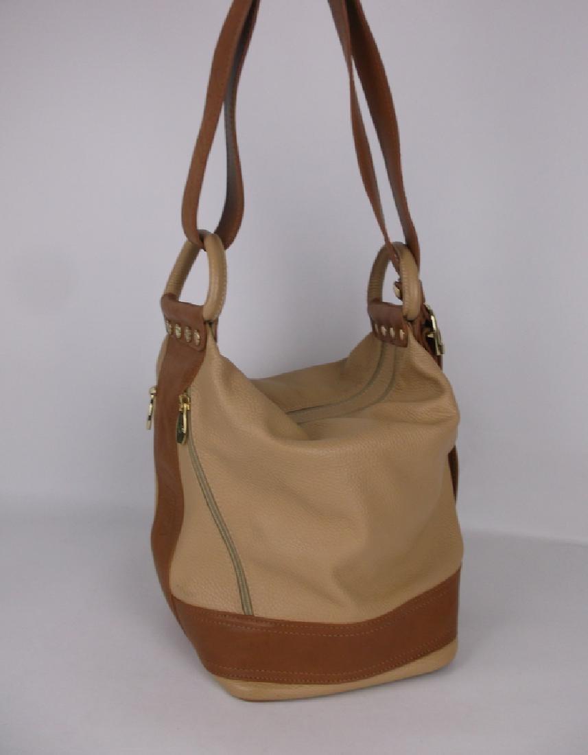 New Large Valentina Leather Handbag Purse Italian - 4