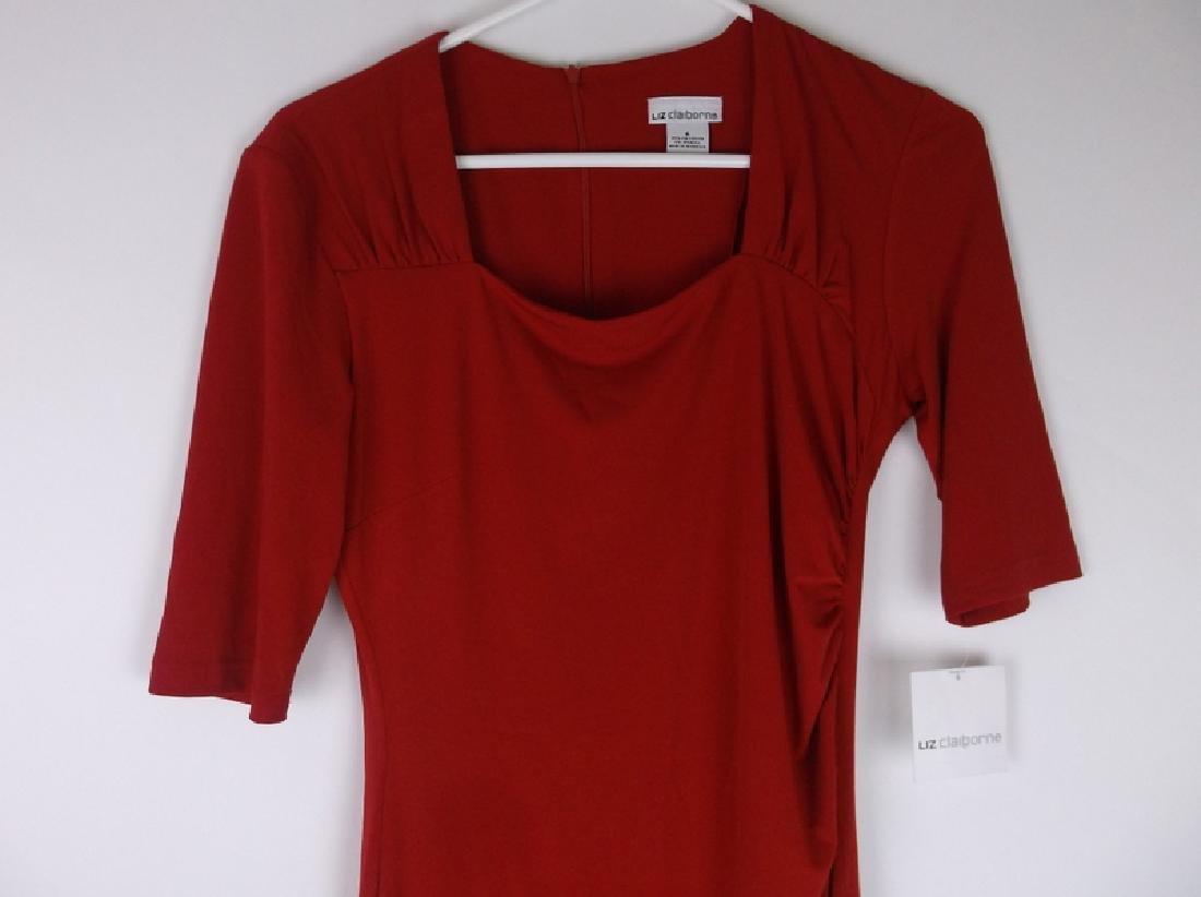 NWT New Liz Claiborne Red Dress Size 6 - 2