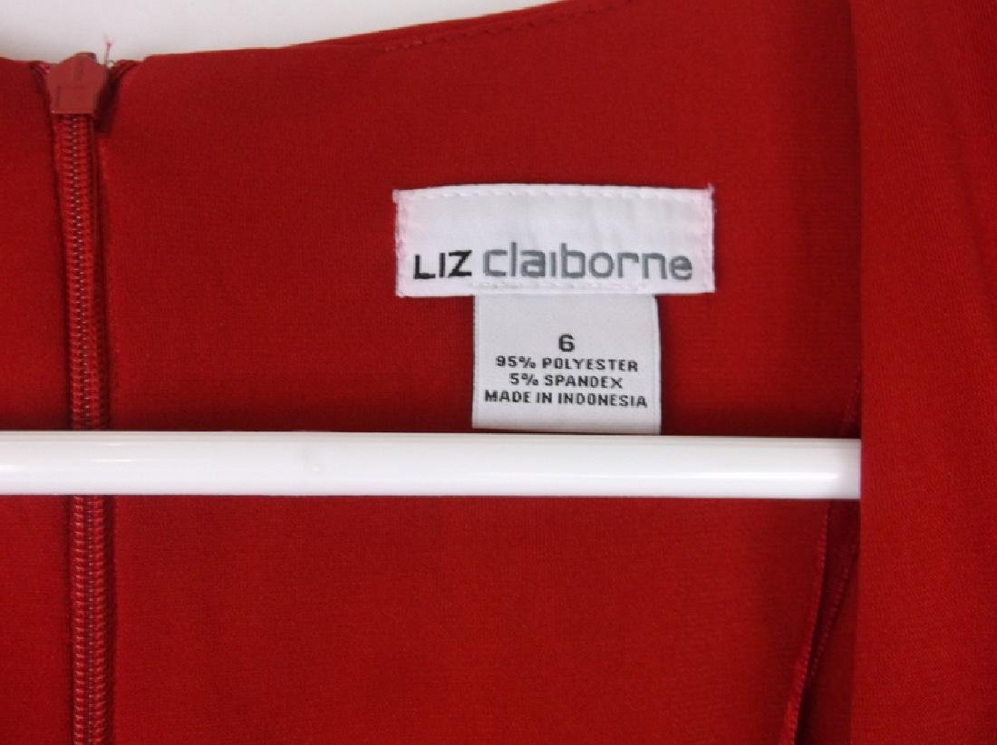 NWT New Liz Claiborne Red Dress Size 6 - 4