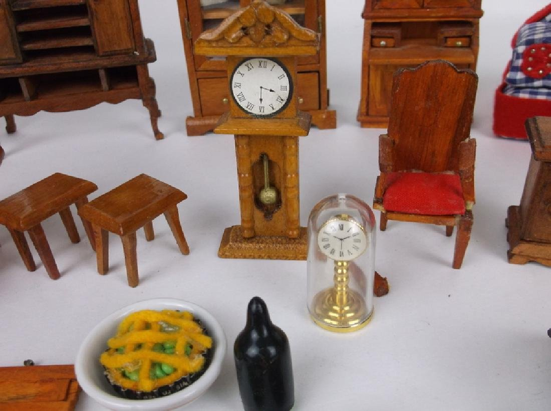 Collection of Estate Wood Doll House Furniture - 3