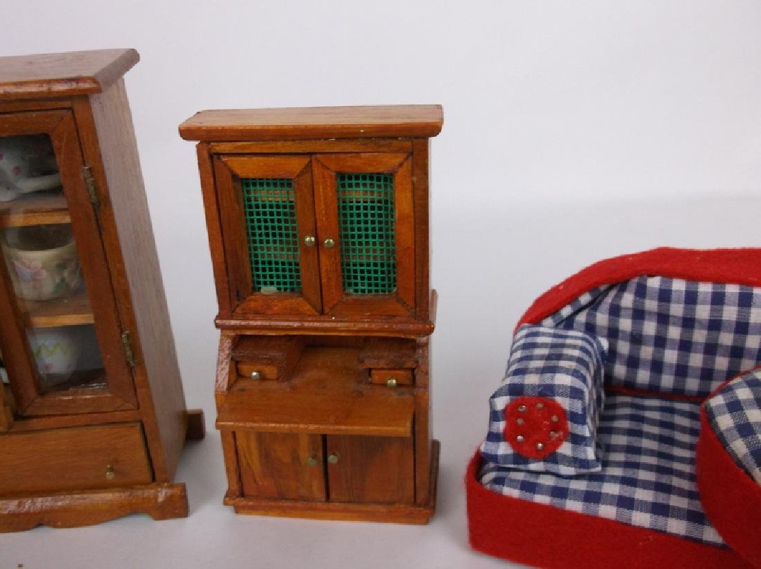 Collection of Estate Wood Doll House Furniture - 4