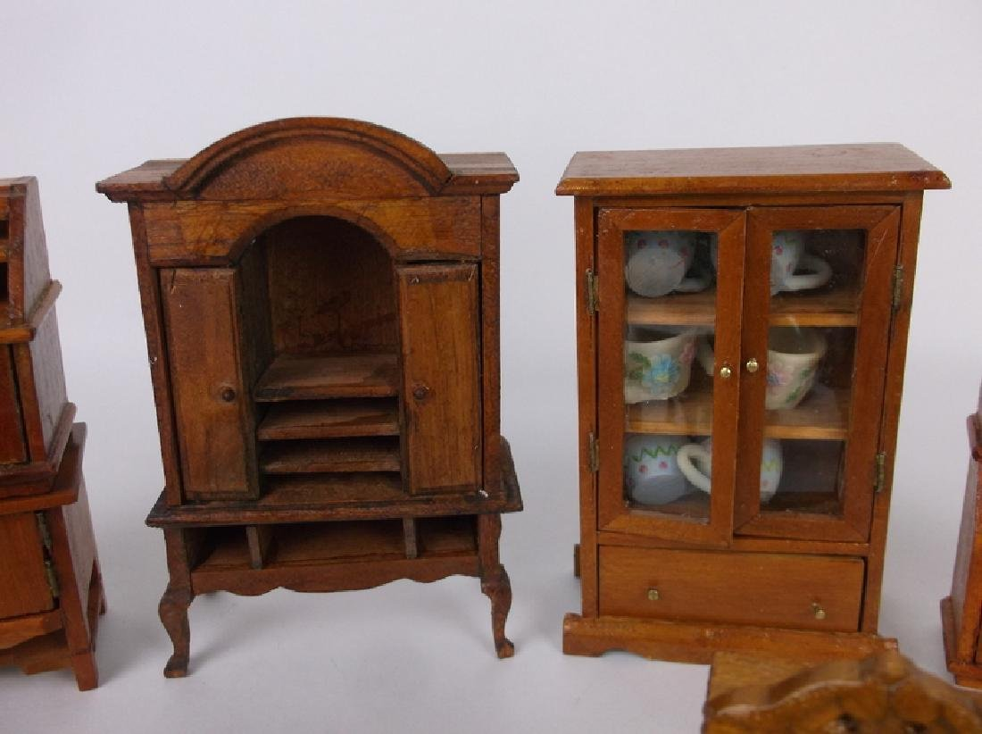 Collection of Estate Wood Doll House Furniture - 5