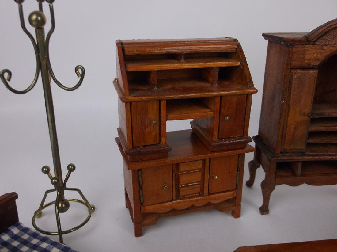 Collection of Estate Wood Doll House Furniture - 6
