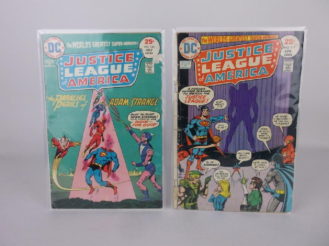 2 1975 DC Justice League Comic Books