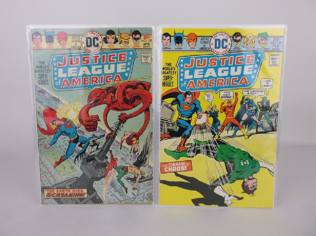 2 Nice 1975-76 DC Justice League Comic Books
