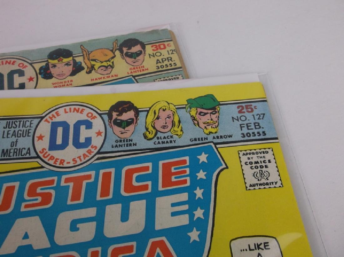 2 Nice 1975-76 DC Justice League Comic Books - 2