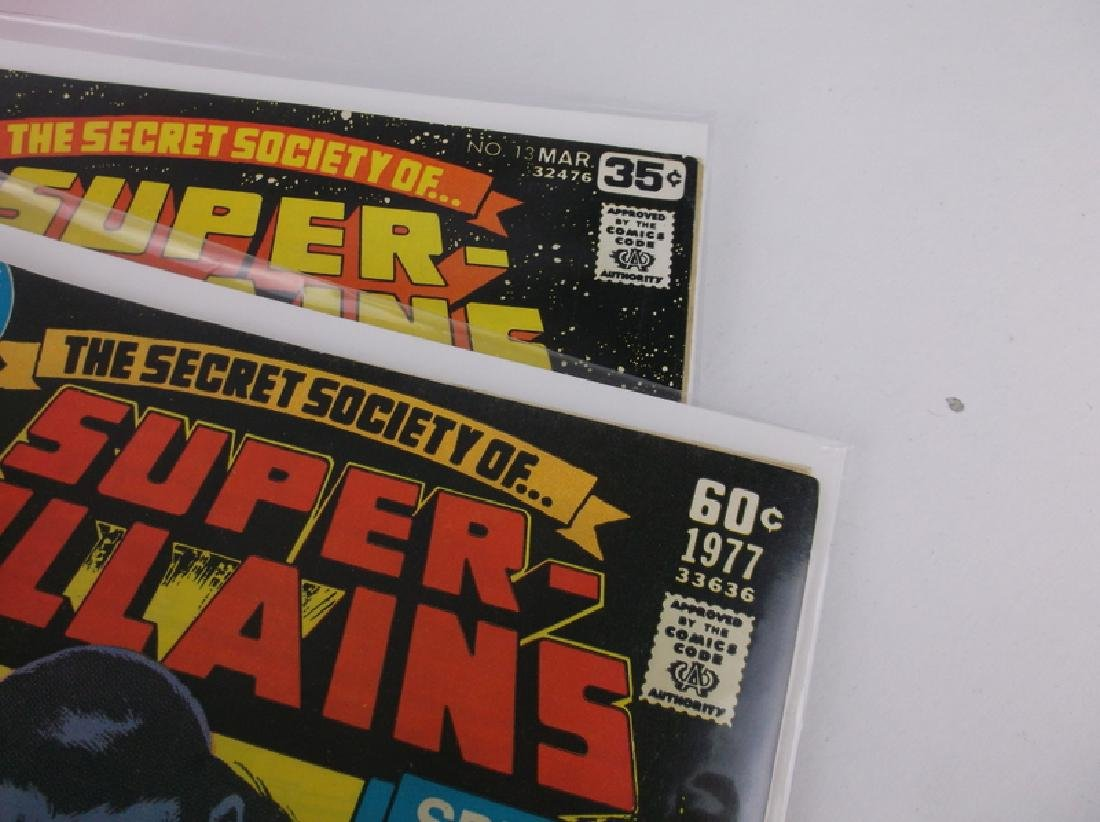 2 Nice 1977-78 DC Super Villians Comic Books #6 13 - 2