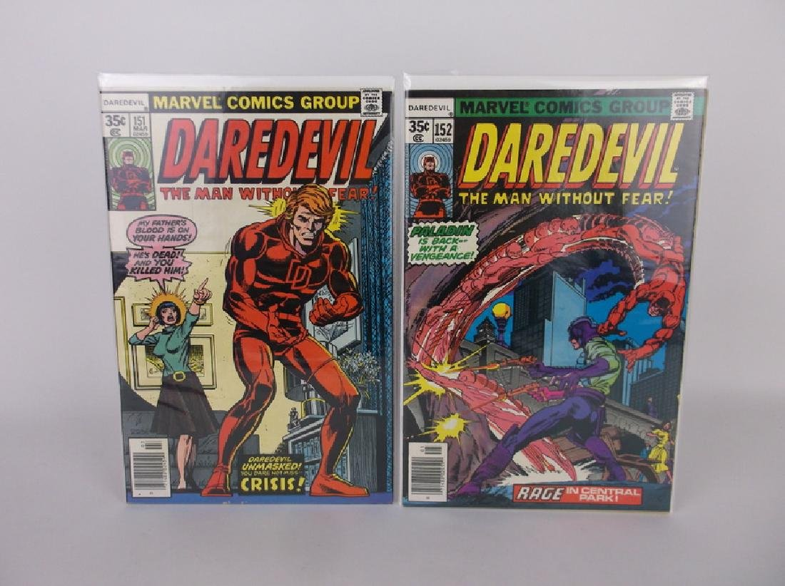 2 Nice 1977-78 Daredevil Comic Books Marvel