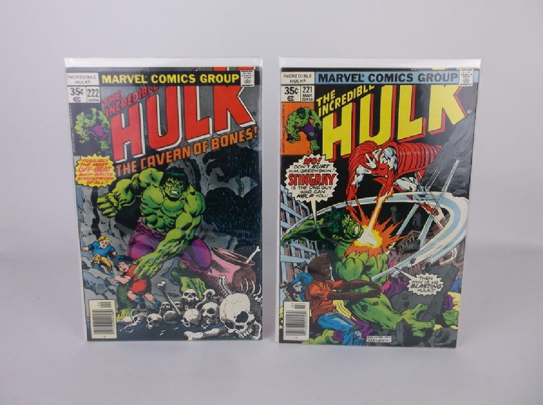 2 Nice 1977-78 Incredible Hulk Comic Books
