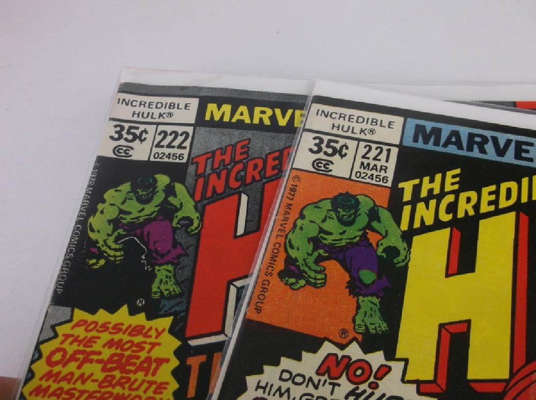2 Nice 1977-78 Incredible Hulk Comic Books - 2