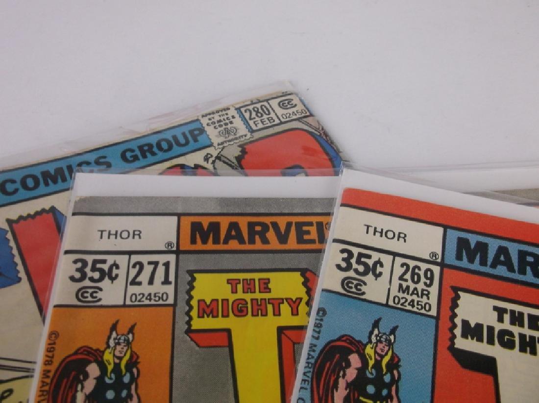 3 Nice 1977-78 Thor Comic Books Marvel - 2