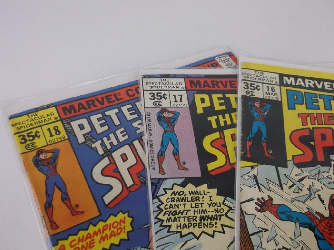 3 Nice 1977-78 Spectacular Spiderman Comics - 2