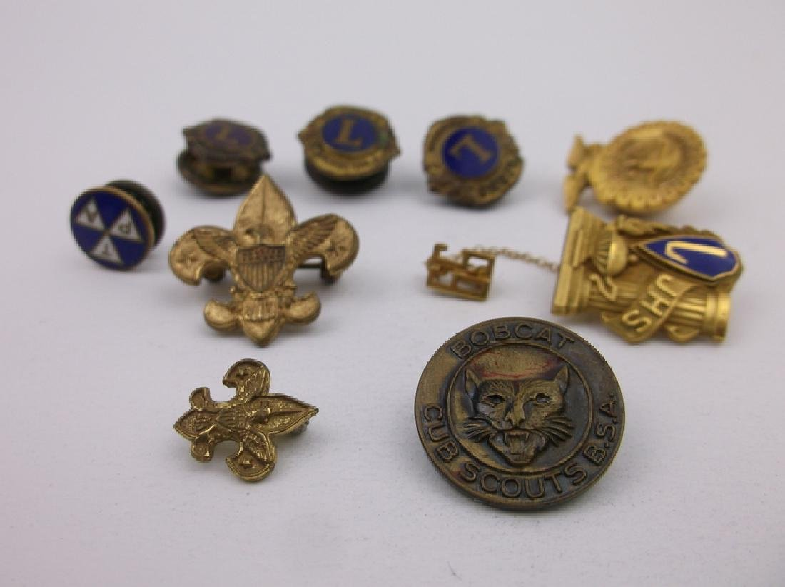 Antique Boy Scouts More 10kt GF More Pins