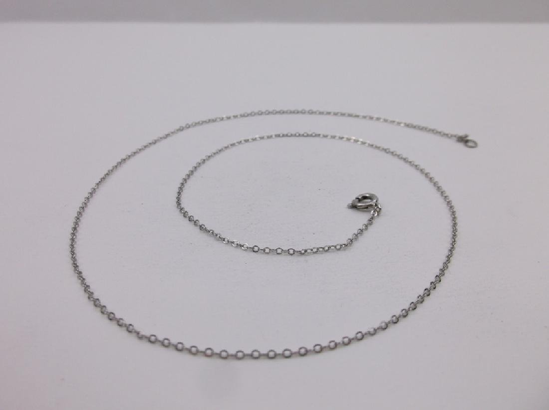 Gorgeous Vint Sterling Silver Chain Necklace 18""