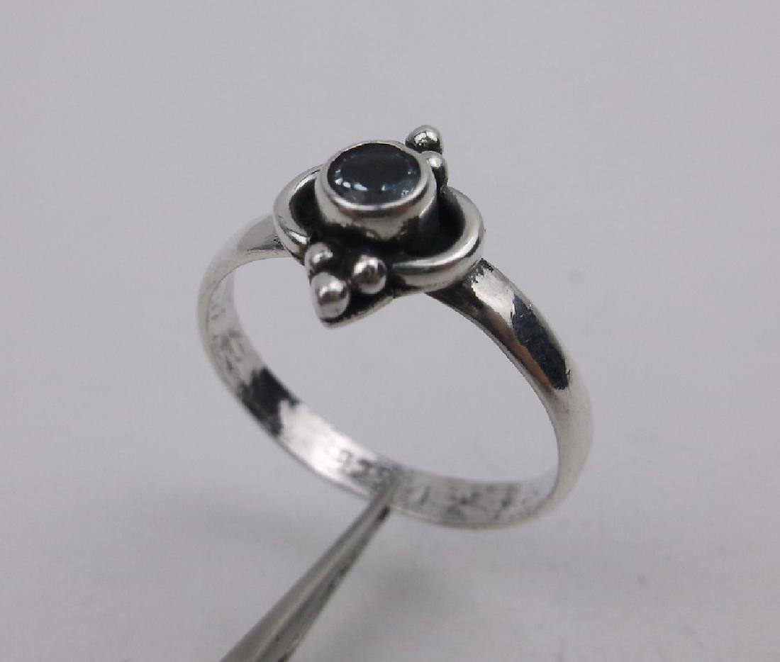 Gorgeous Sterling Silver Blue Stone Ring 6.75