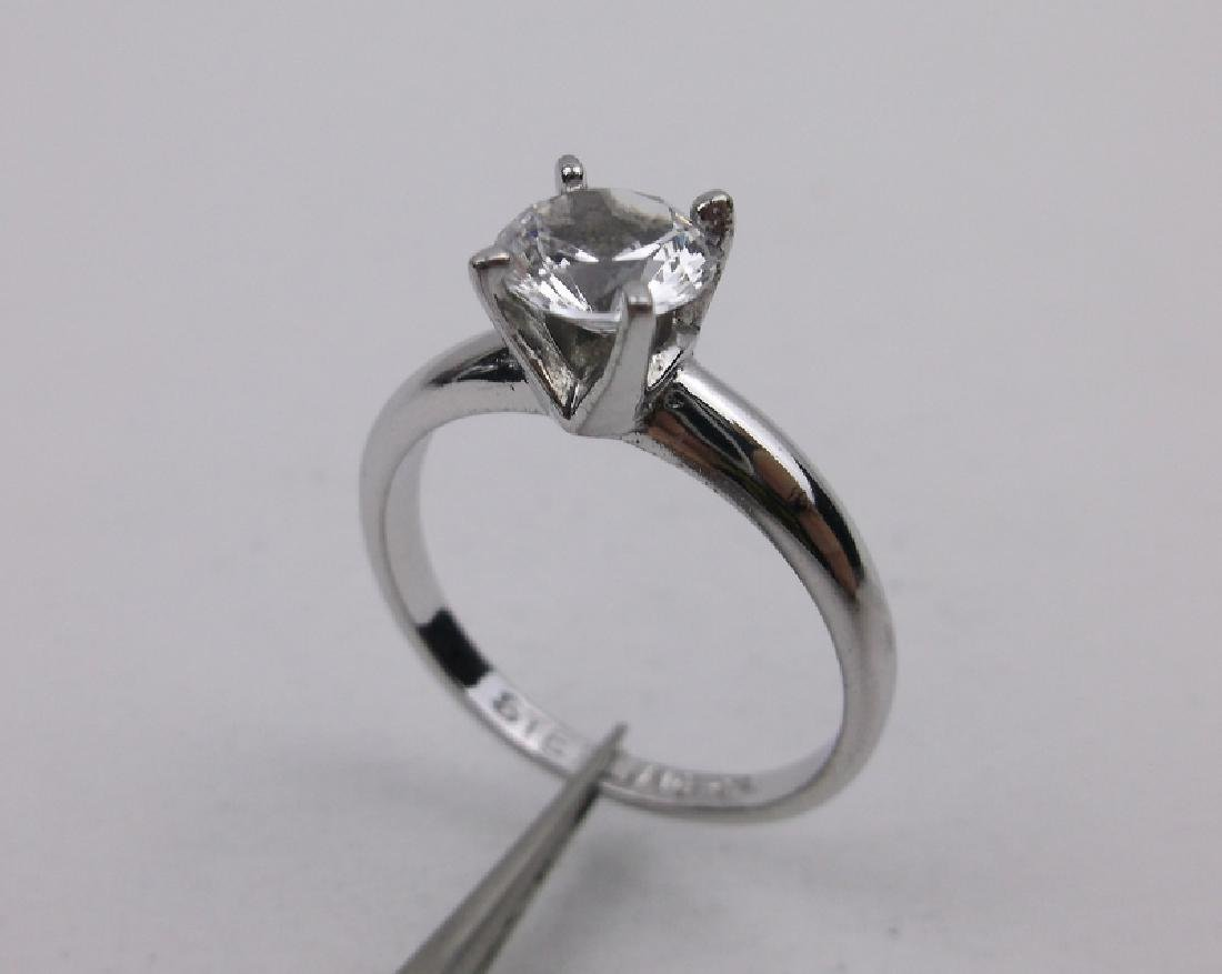 Antique Sterling Engagement Ring 7.75 Gorgeous