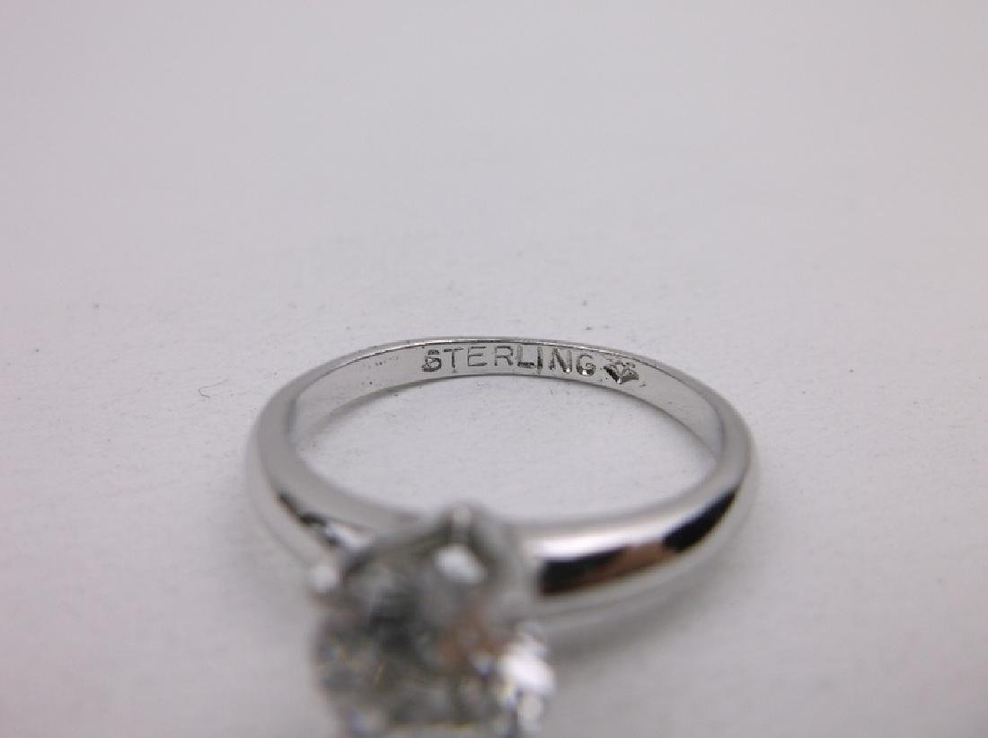 Antique Sterling Engagement Ring 7.75 Gorgeous - 2
