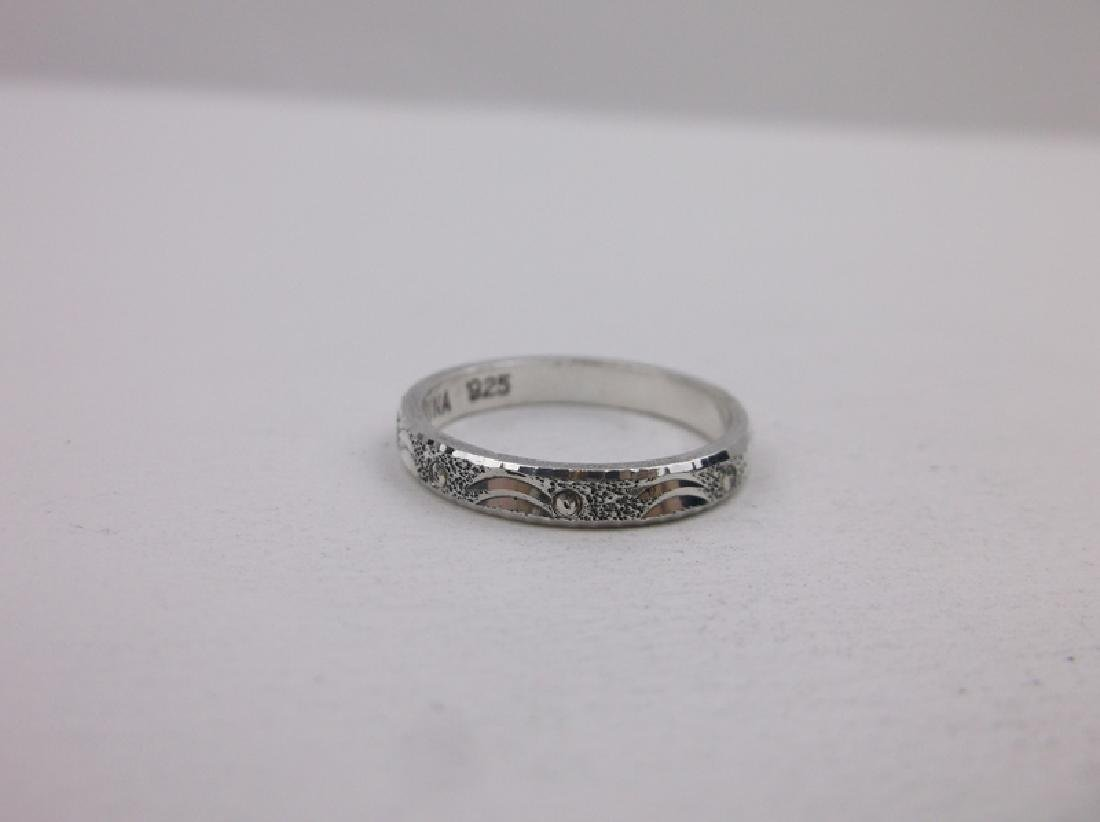 Gorgeous Sterling Silver Band Ring 6 Ornate