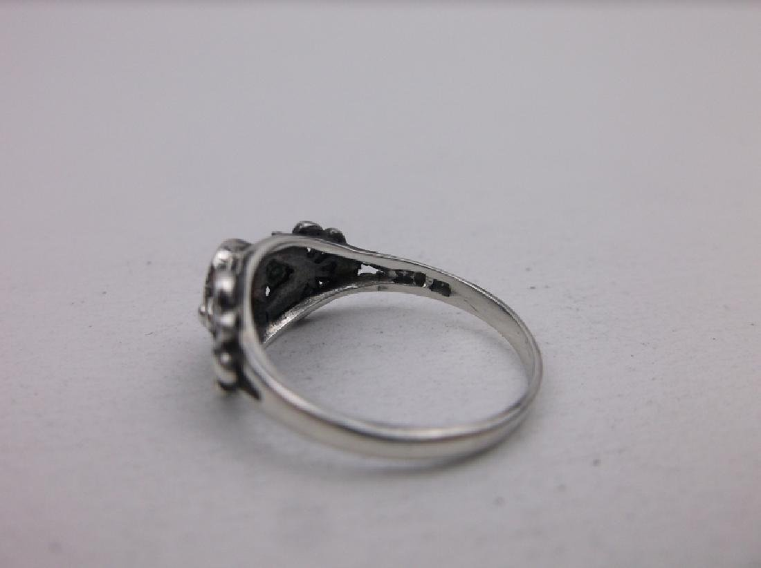 Gorgeous Sterling Silver Pink Stone Ring 5 - 2