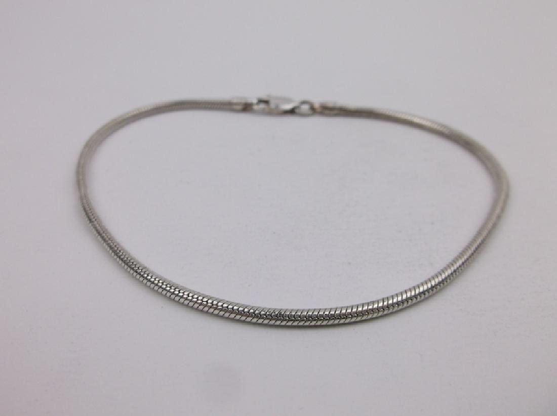 "Gorgeous Sterling Silver Chain Bracelet 8.5"""