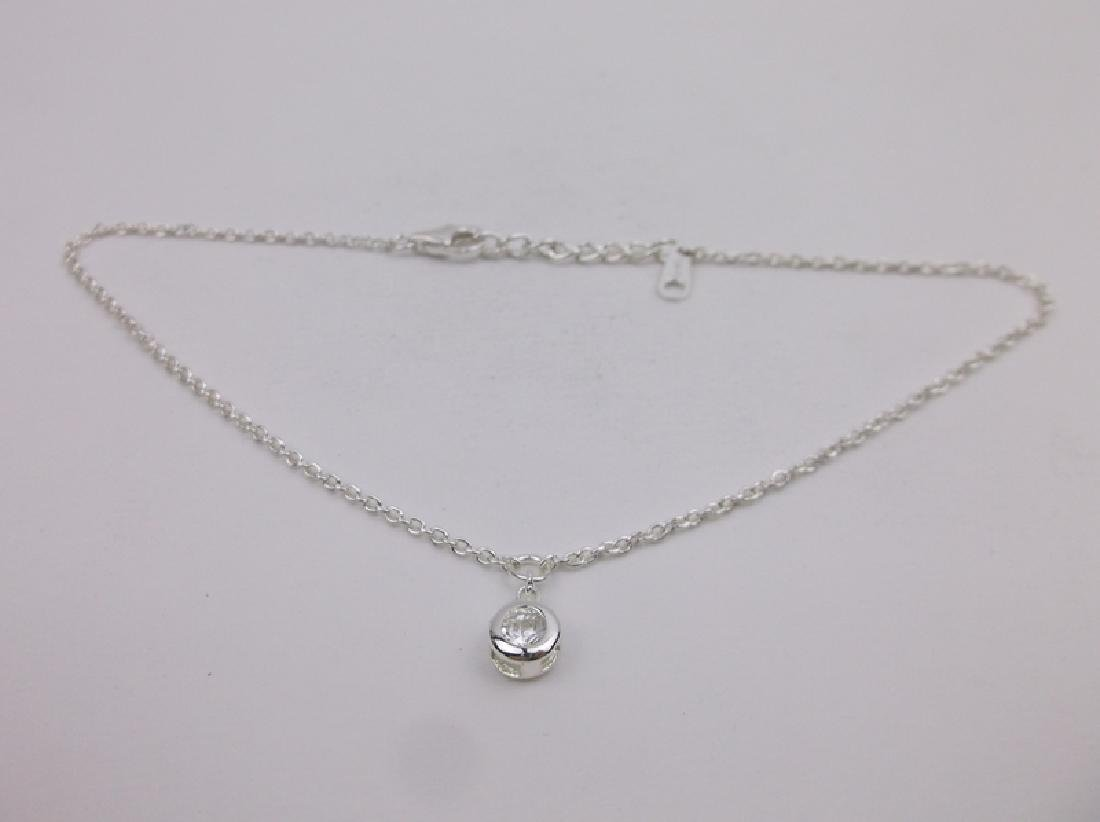 Gorgeous Sterling Silver Anklet 10""