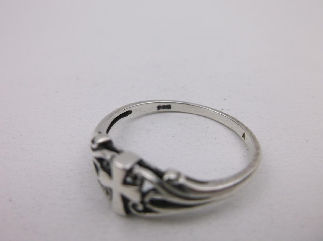 Gorgeous Sterling Silver Cross Ring 10 - 2
