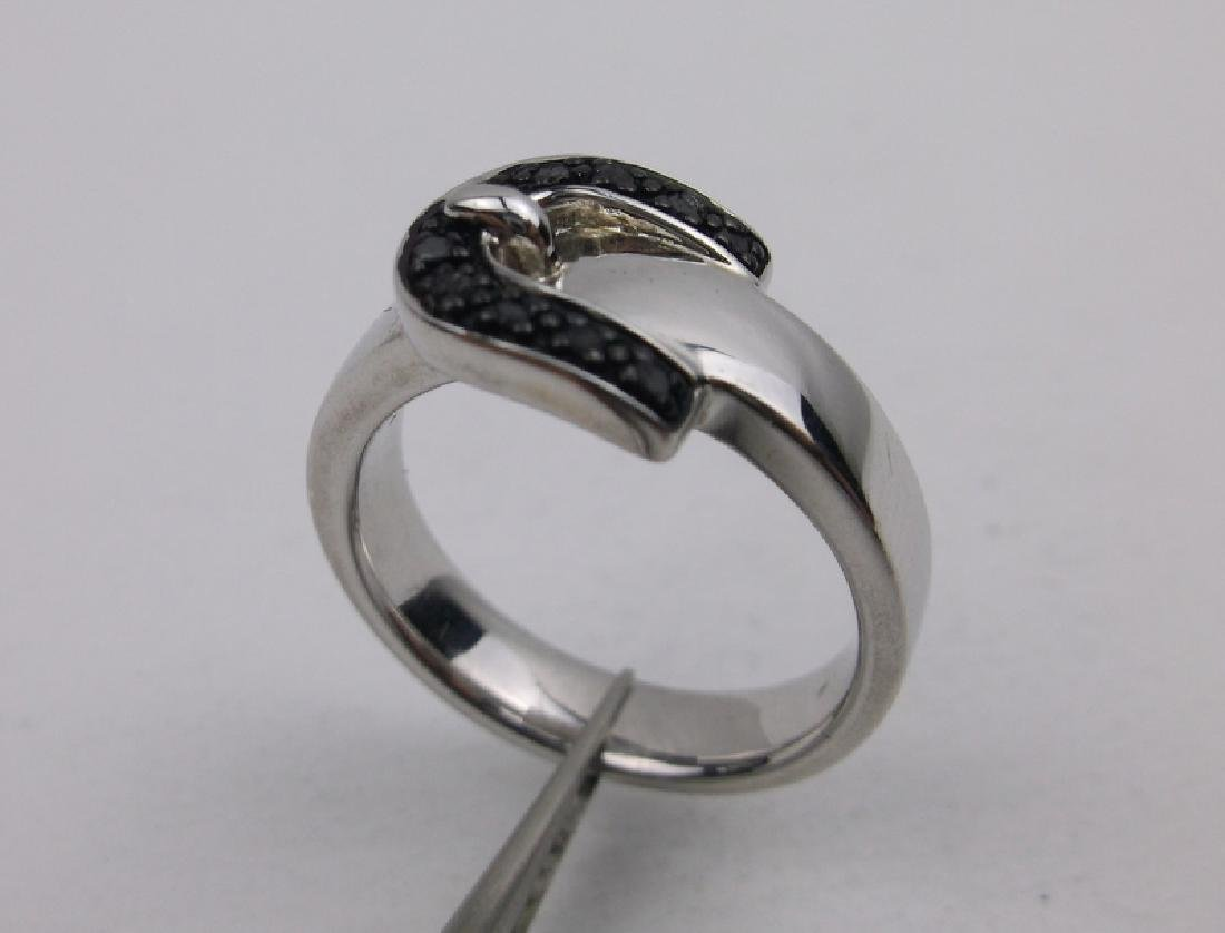 Stunning Sterling Silver Belt Ring 7