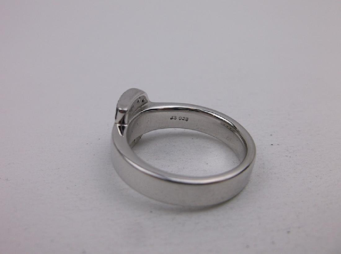 Stunning Sterling Silver Belt Ring 7 - 2