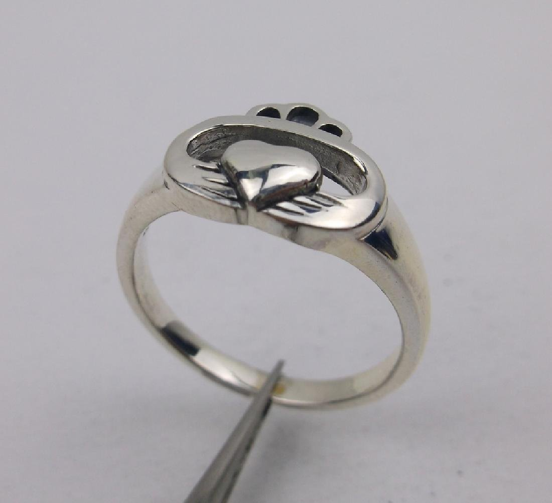 Stunning Sterling Silver Claddagh Ring 8
