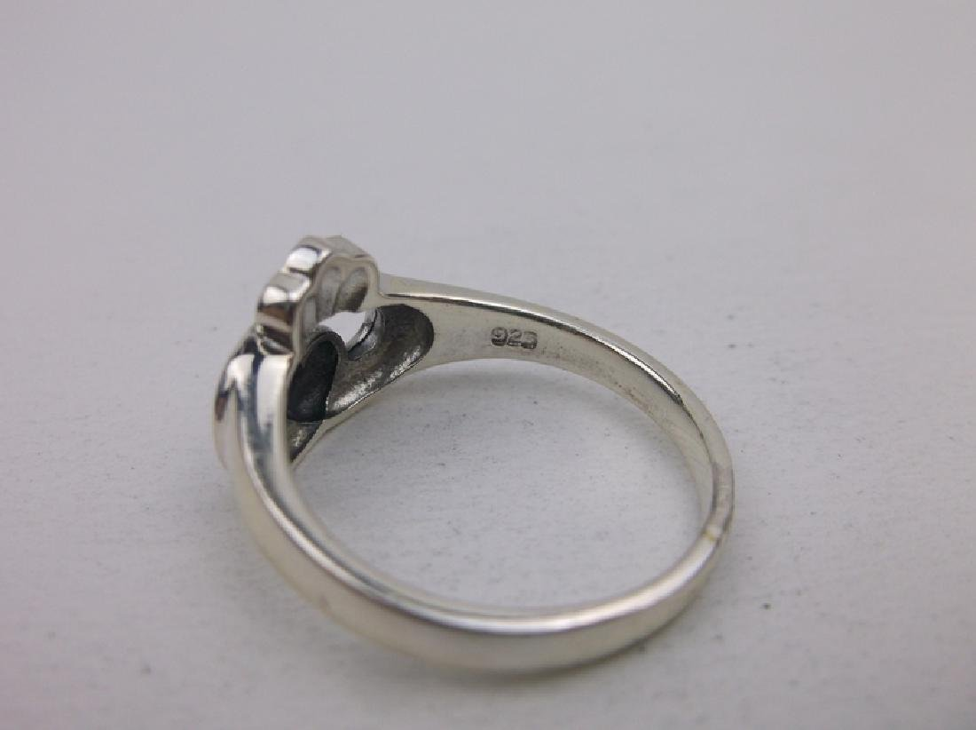 Stunning Sterling Silver Claddagh Ring 8 - 2