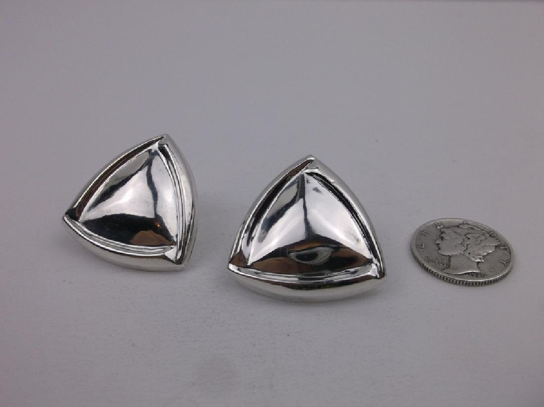 Gorgeous Large Sterling Silver Stud Earrings