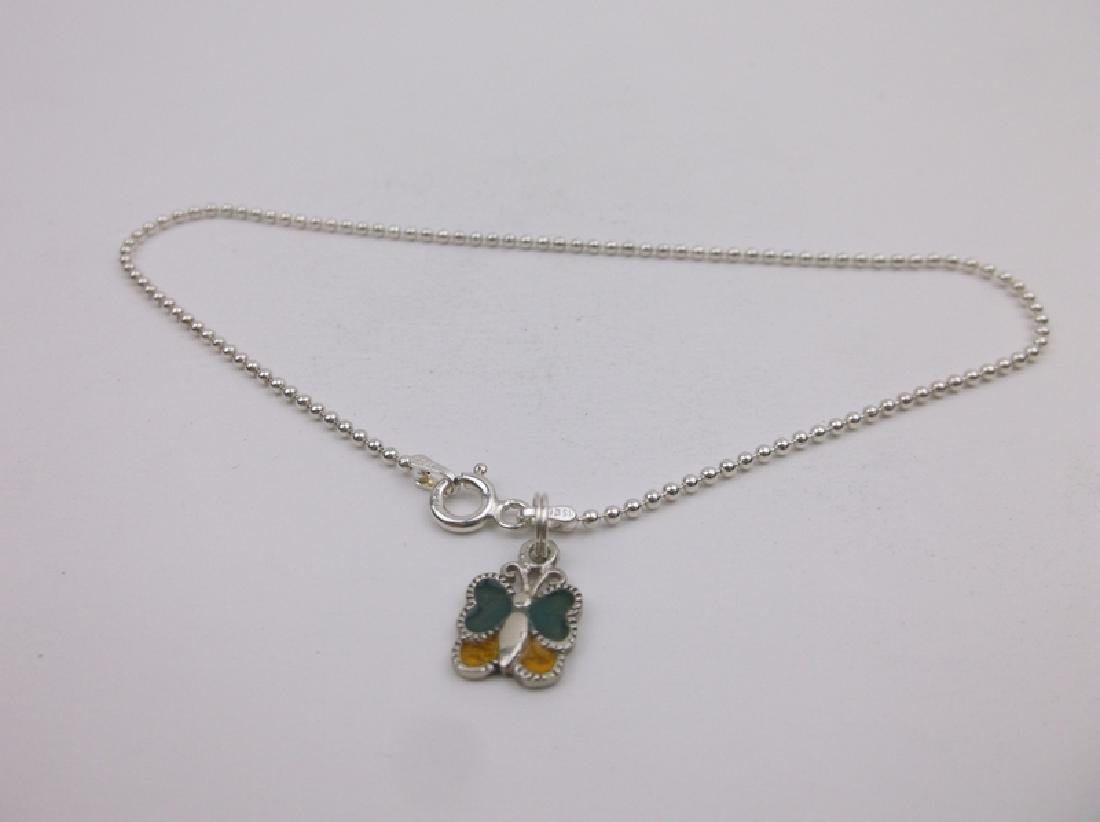 "Gorgeous Sterling Silver Butterfly Bracelet 9"""