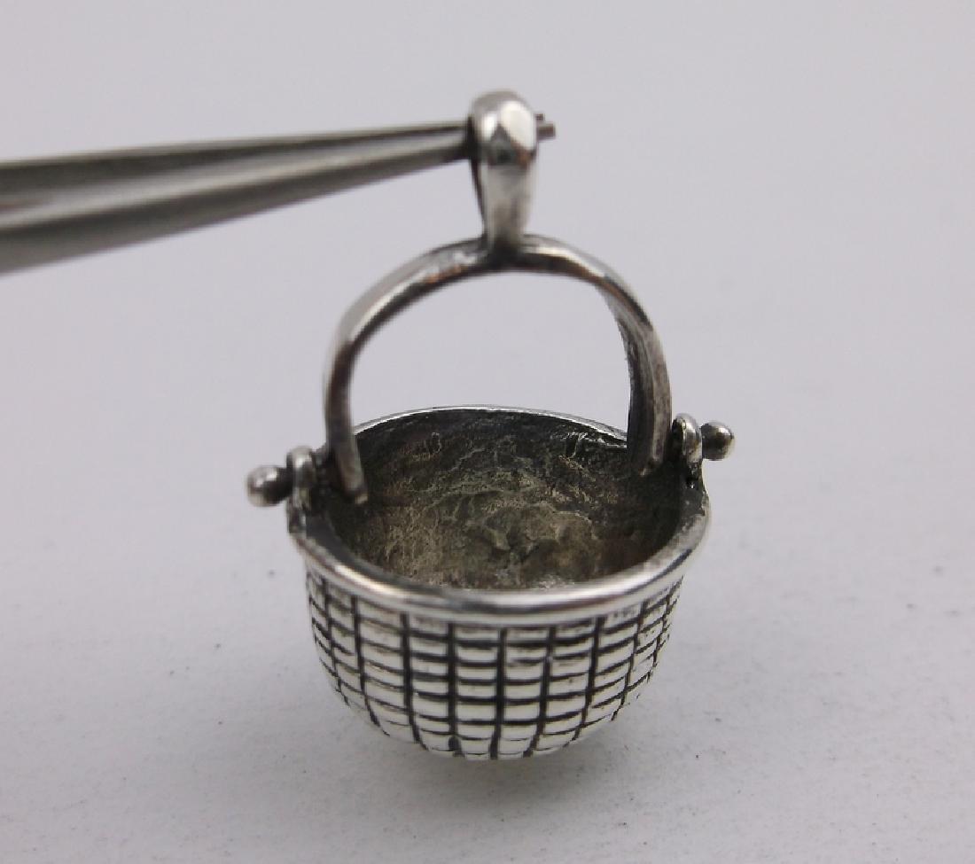 Gorgeous Sterling Silver Basket Pendant
