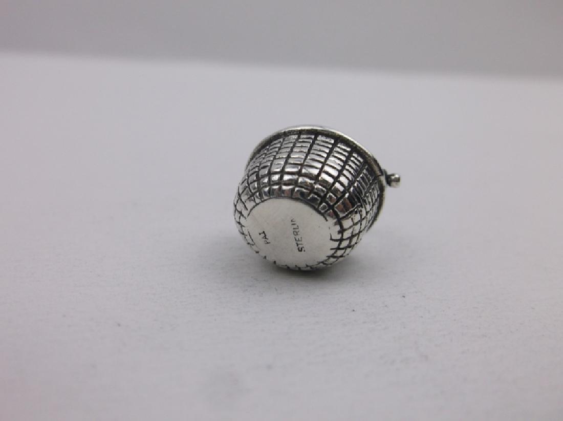 Gorgeous Sterling Silver Basket Pendant - 2