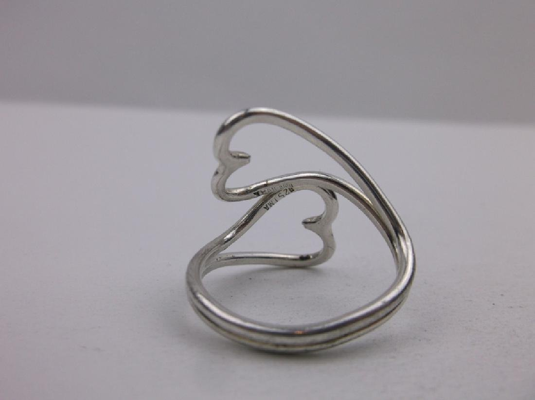 Gorgeous Sterling Heart By Pass Ring 7 - 2