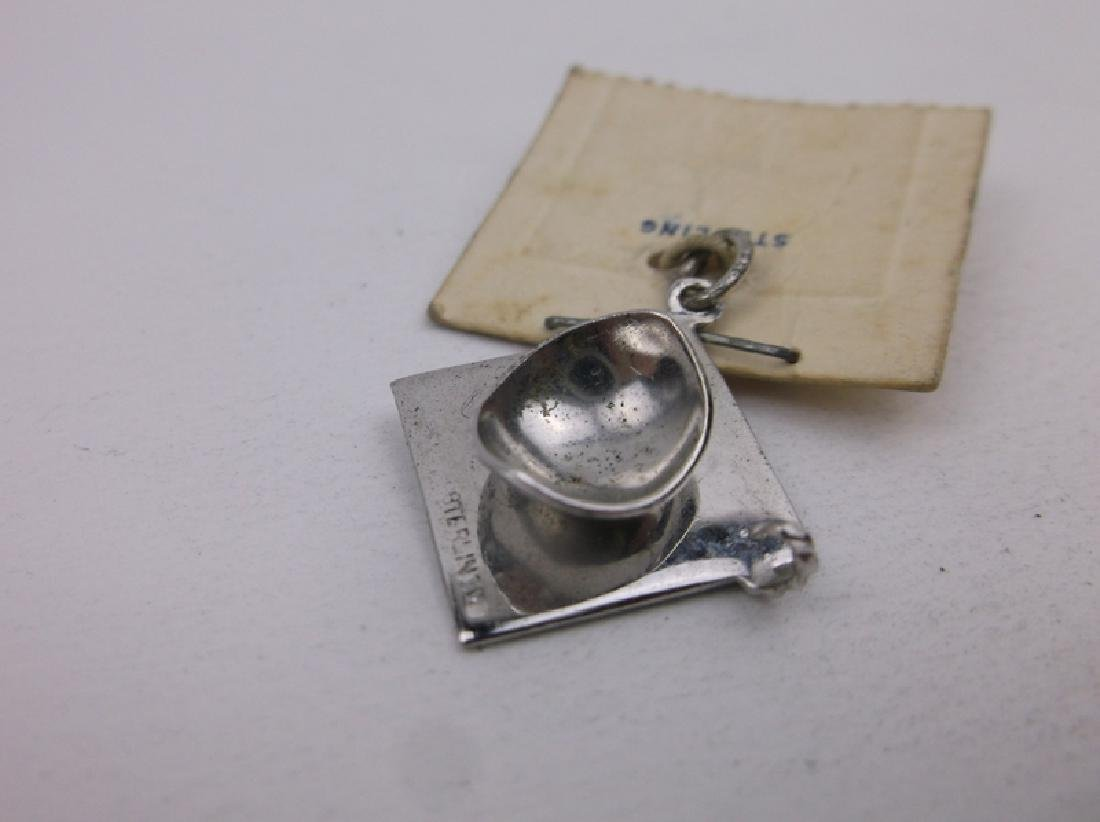 New Old Stock Sterling Graduation Charm - 2