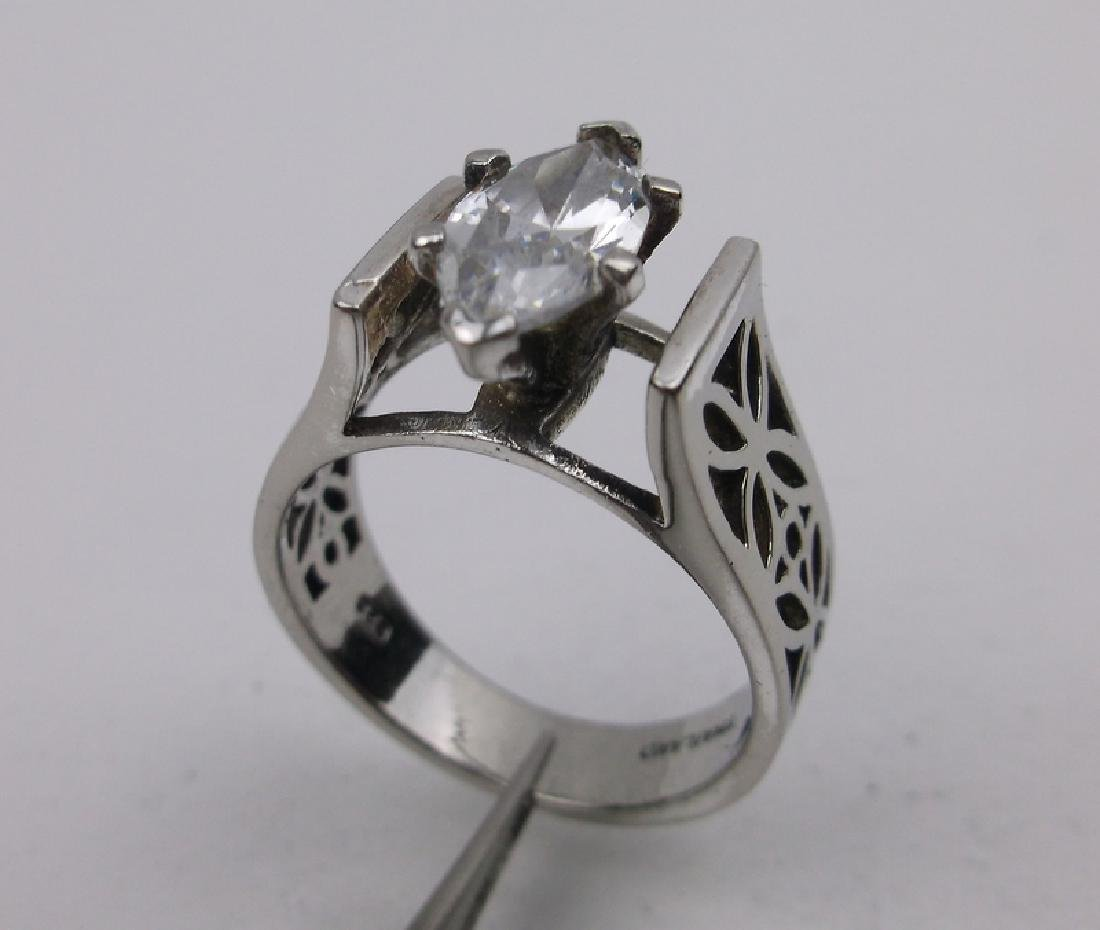 Gorgeous Sterling Silver Engagement Ring 7