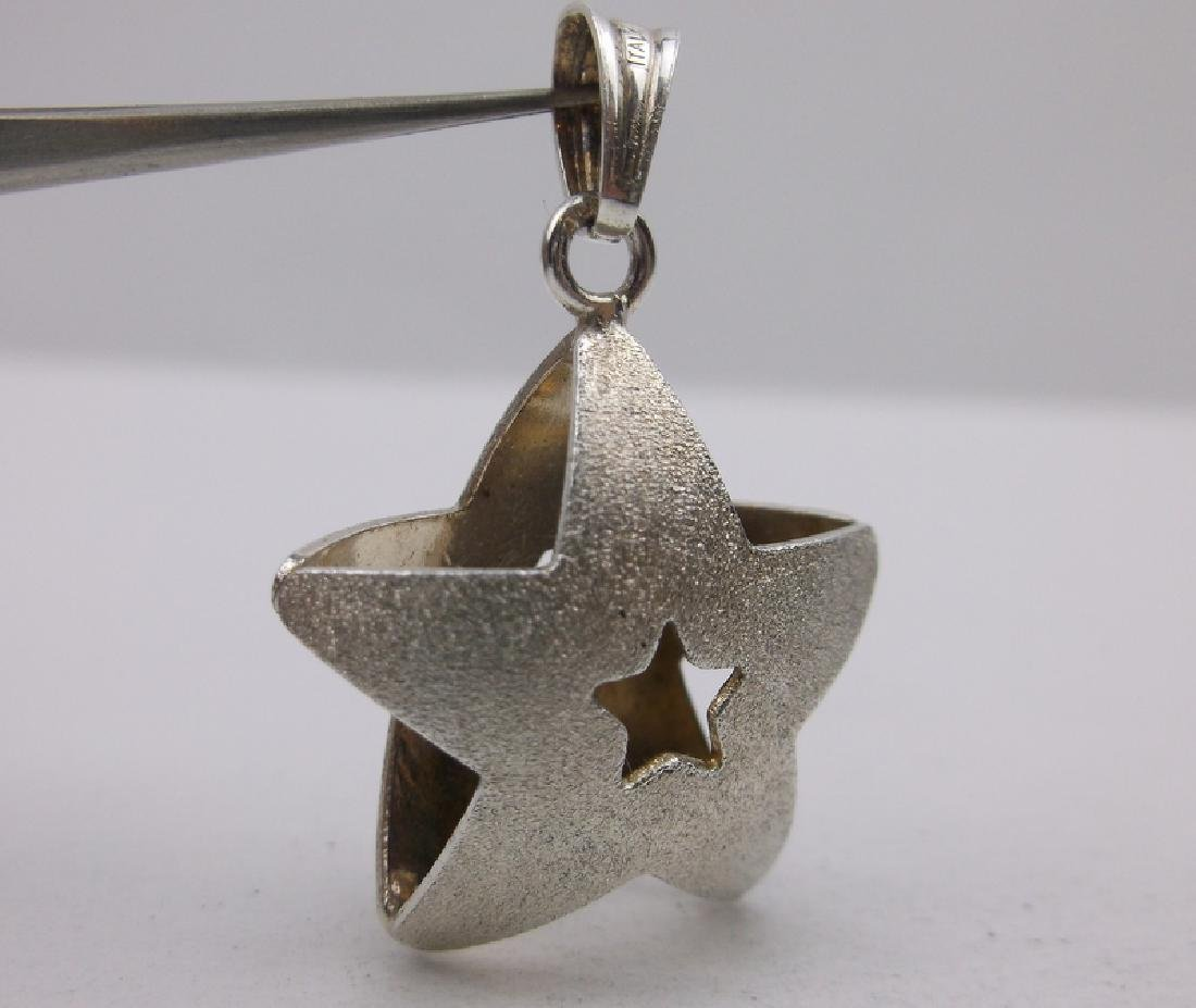 Gorgeous Sterling Silver 3D Star Pendant