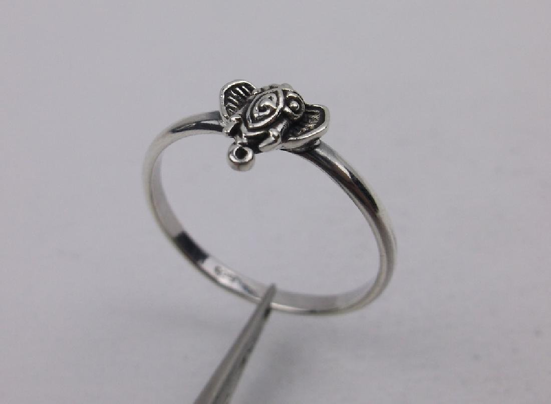 Stunning Sterling Bali Elephant Ring 7