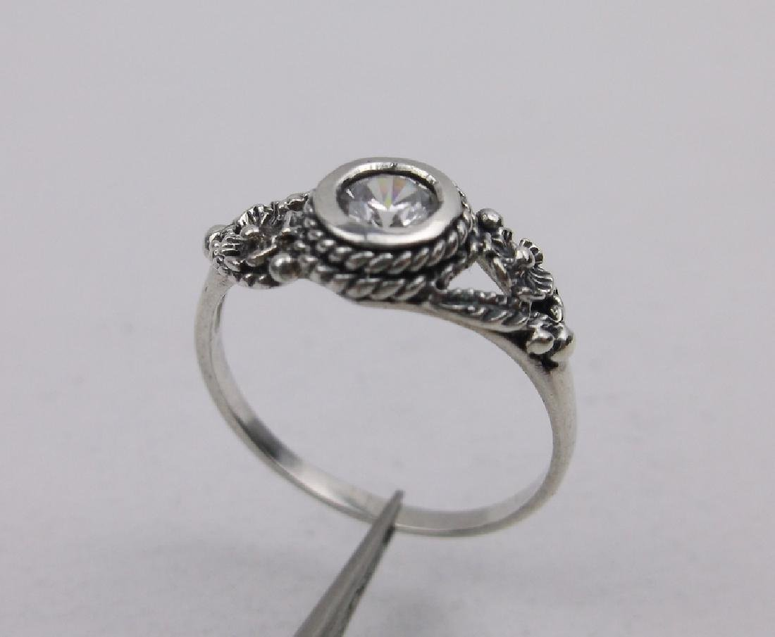 Stunning Sterling Silver White Stone Ring 5
